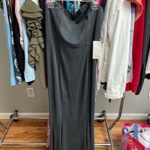 Tobi Strapless Navy Long Dress